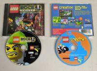 Lego Rock Raiders + Lego Creator (PC CD-ROM, 1999) 2 Game Lot