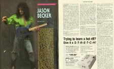 1990 Jason Becker - in the listening room - 2-Page Vintage Guitar Article