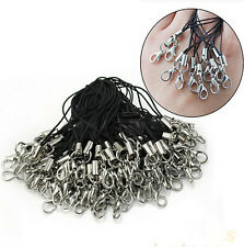 100Pcs Black Cell Phone Lanyard Cords Strap Lariat Mobile Lobster Clasp Hot Sale