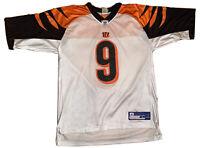 NFL CINCINNATI BENGALS CARSON PALMER REEBOK AUTHENTIC STITCHED JERSEY 9 Large