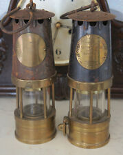 Two Vintage miners  The Protector Lamp And Lighting Co.Ltd