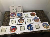 Walt Disney Aladdin Collector Plates - Complete 8 Piece Set - Bradford Exchange
