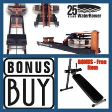 WaterRower CLUB Series Water Rower S4 + FREE Pro Abdominal Ab Bench (Value $299)