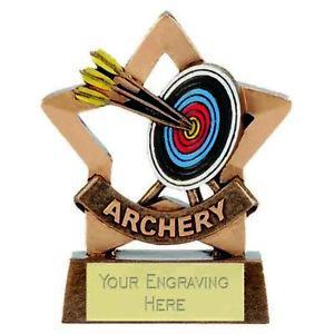 Mini Star Archery Trophy Award (8cm) free engraving