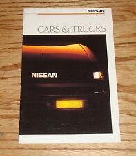Original 1988 Nissan Car & Truck Full Line Sales Brochure 88 Pulsar NX 200 SX