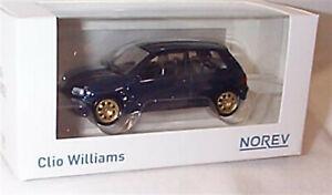 Renault Clio Williams Dark blue Gold Wheels 1-43 Scale Diecast model New in Box