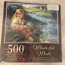 "Sure-Lox- Wonderful World ""Flowers By The River""- 500 Pc Jigsaw Puzzle"