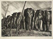 Circus Elephants : John Steuart Curry : 1936 : Archival Quality Art Print