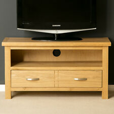 London Oak Small TV Stand / Light Oak TV Unit / Solid Wood TV Cabinet / New