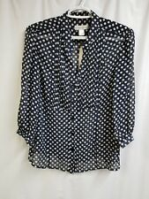 Christopher & Banks Women's 3/4 Sleeve Blouse, Size M. NWT.