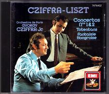 Georges CZIFFRA: LISZT Piano Concerto No.1 & 2 Totentanz Fantasie Honogroise CD