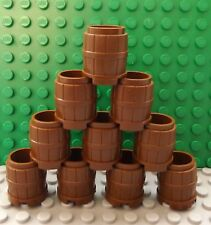 10 LEGO Brown Barrel Container Tub Flower Pot Pirate Ship Set No 2489