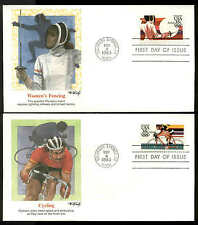 C109-C112 35c OLYMPICS  FDC COLORADO SPRINGS, CO SET of 4 FLEETWOOD COVERS