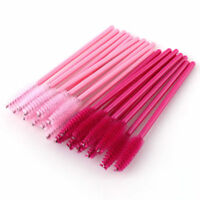 50 Pcs Disposable Eyelash Mini Brush Mascara Wands Applicator Spoolers Makeup