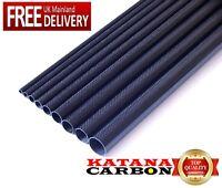 1 x 3k Carbon Fiber Tube OD 8mm x ID 6mm x 1000mm (1 m)(Roll Wrapped) Fibre
