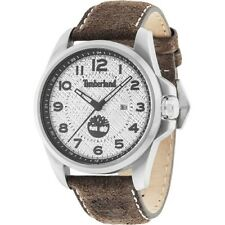 WATCH TIMBERLAND LEYDEN SILVER/BROWN LEATHER TBL.14768JS/04 - NEW (LISTINO €139)