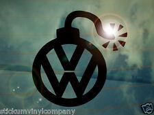 Dub Bomb Car Sticker/Decal *Dubs*German*VAG*Euro*VDUB*VW*Beetle*DropDubsNotBombs