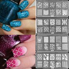 Nail Art Stamp Stencil Stamping Template Plate Set Tool Stamper Design Kit DIY