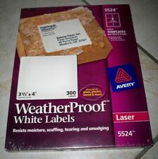 New Listingavery Weatherproof Shipping Labels Withtrueblock Laser White 3 13 X 4 300pack