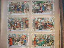 12627 LIEBIG Bilder Serie A722 Zünfte des Mittelalters  1900 6 cards middle ages