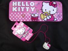 NEW HELLO KITTY Pendant & Sweet Tin Storage for School or Home Crafts Girls