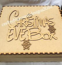 Christmas Eve Box Topper 200 x 150mm Mdf x 28