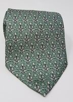 Cravatta hermes paris 100% pura seta tie made in italy original verde
