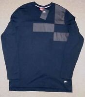 Nike sz L Men's Long Sleeve 100% Cotton Top Shirt NEW 832174 010  Black / Grey