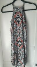 Atmosphere black, coral and white summer dress size 6