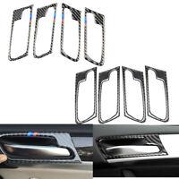 Carbon Fiber Door Handle Frame Trim Cover Sticker For BMW X5 E70 X6 E71 09-13