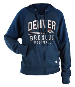 "Denver Broncos Women's New Era NFL ""TD Play"" Tri-Blend Hooded Sweatshirt"