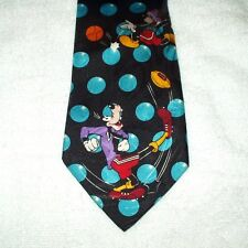 Corbata Novedad Dibujos Animados Disney Mickey Donald fútbol Polkadot