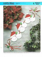 Santa Swag  ~ Annie's Int. plastic canvas  ~ Christmas wall hanging pattern