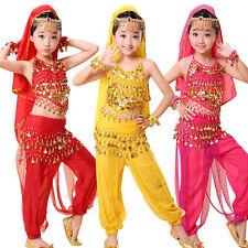 Kinder Mädchen Bauchtanz Kostüm Rock Bollywood Halloween Indischer Tanz Dance