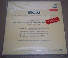Helmut Walcha BACH Preludes & Fugues - Archiv ARC 73207 Red Stereo SEALED