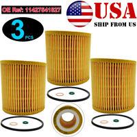 Qty 3, Cars Oil Filter For BMW 135i 328i 335i 525xi 535i M2 X1 Z4 E61 E93 F10