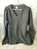Columbia Gray Women's Sweater Pullover Extra Large V-Neck Long Sleeve Warm Cozy