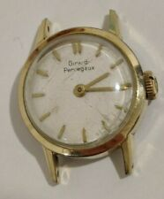 Vintage manual wind Girard Perregaux 17 jewels ladies watch 20micron gold plated