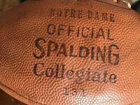 Vintage 1940's Notre Dame Football Fighting Irish Rare Spalding Leatherneck NCAA