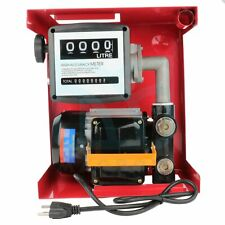 Electric Gas Transfer Pump 155w Oil Fuel Diesel Withmeter Gallon Diesel Automatic