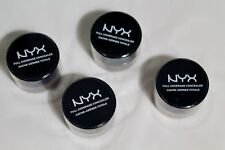 Lot of 4 NYX Full Coverage Concealer Jar 0.25 oz New & Sealed CJ08.2 Cappuccino
