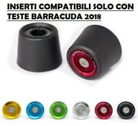 BARRACUDA KIT COPPIA INSERTI ERGAL TAMPONI PARATELAIO PVC KAWASAKI Z 650