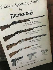 Vtg 1960s John M. Browning Armory Firearms Pistols Guns Catalog Booklet Pamphlet