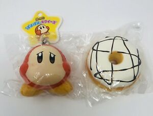 Licensed Squishy Bundle Lot Of 2 Squishies- Modes4u Donut 🍩And Kirby Monkey 🐒