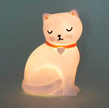 Sass & Belle Cute Cat White Night Light Nursery Bedroom Decor LED Table Lamp