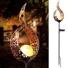 New ListingSolar Powered Full Moon Led Stake Light Garden Lawn Decor Flame Lamp Outdoor Us