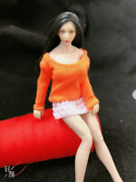 1/6 Orange Color Top Sweater Skirt Clothing Suit Fit 12'' Girl Action Figure