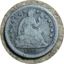 elf Seated Liberty Half Dime 1856  Drapery at Elbow
