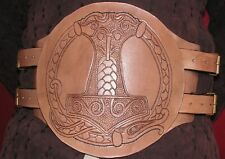 Handmade/ handcrafted Brown Leather Hero Belt, Larp, Role Play, etc