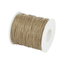 Waxed Cotton Thread Cords BurlyWood 1mm about 84m/roll DIY Beading Craft Making